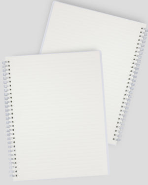 Miliko Transparent Hardcover B5 Wirebound Notebook Set(Ruled)