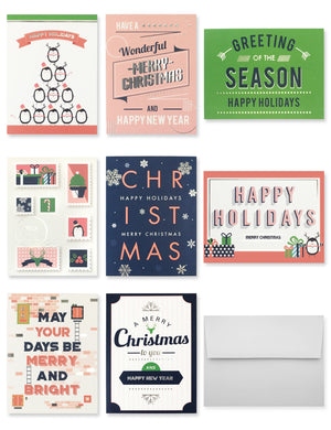 Miliko Holiday Greeting/Christmas Cards Set - Miliko