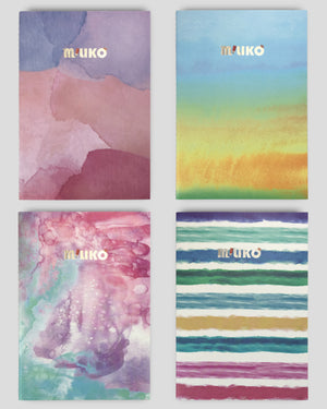 Miliko Watercolor Series Softcover Notebook/Journal Set