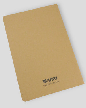 MILIKO KRAFT PAPER SERIES NOTEBOOK/JOURNAL SET (SQUARE GRID) [20PCS, 60PCS]