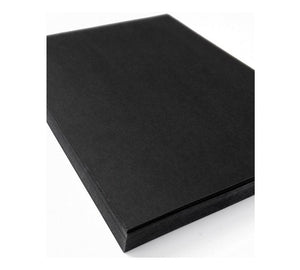 Miliko Heavy Duty Kraft Paper Document Folder/File Pocket, 12 Per Pack (Black Kraft Paper)