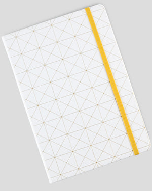 Geometry Golden Blocking A5 Hardcover Banded Notebook/Journal(Ruled)