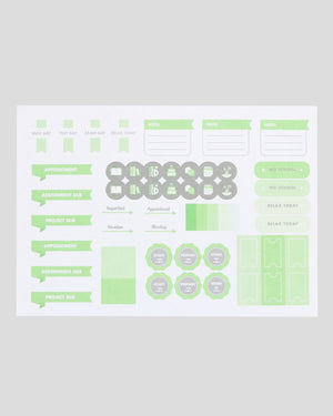 Miliko A4 Study Planner/Organizer(Green)[10PC,20PC,50PC]