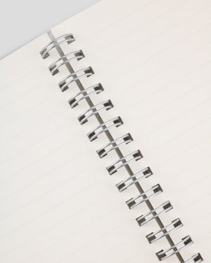 Miliko Transparent Hardcover A5 Size Spiral Notebook(Ruled)