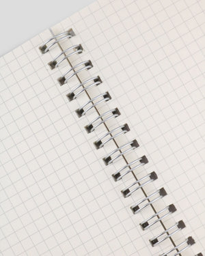 Miliko Transparent Hardcover A5 Size Spiral Notebook(Square Grid)