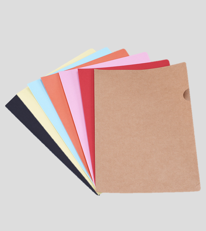 Miliko Document Folders/Project Pockets, Letter Size, 14 Per Pack(Black, Brown, Orange, Pink, Blue, Red, Yellow)