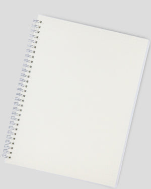 Miliko Transparent Hardcover A5 Size Spiral Notebook(Dot Grid)