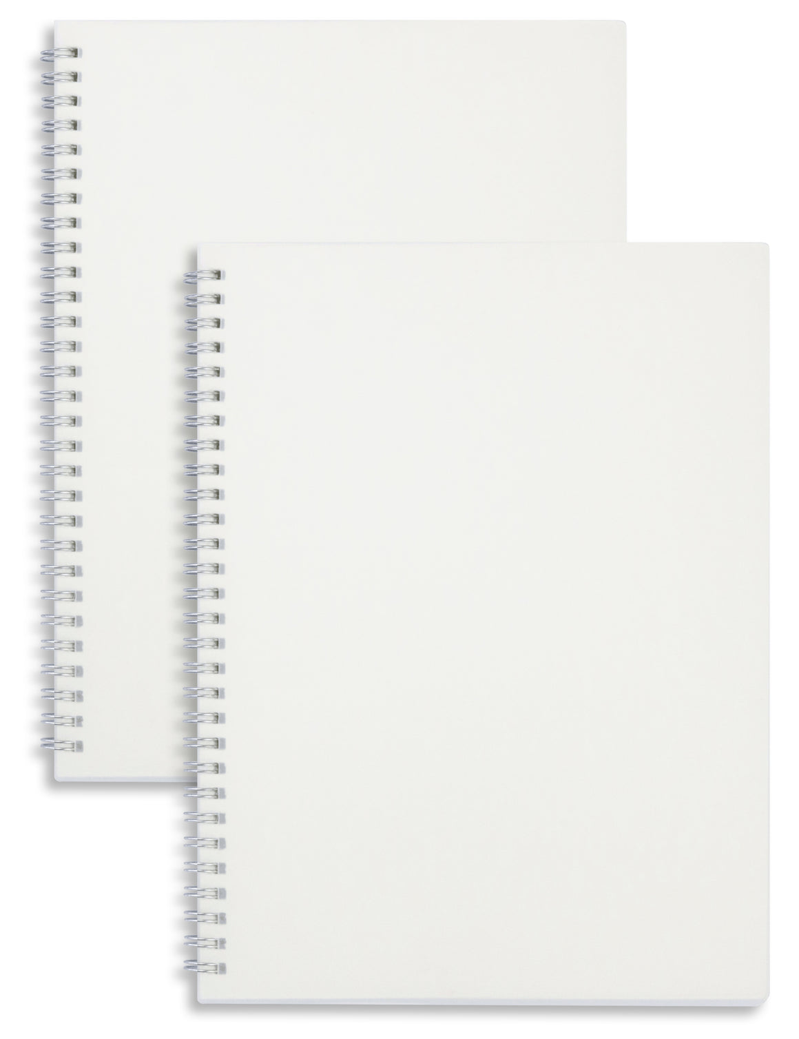 Miliko Transparent Hardcover B5 Blank Wirebound Notebook Set - Miliko