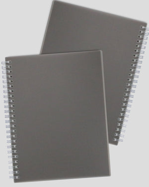 Miliko Dark Transparent Hardcover B5 Wirebound Notebook Set(Blank)