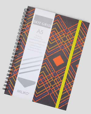 A5 Color Geometry Series Hardcover Spiral Notebook Set(Dot Grid)