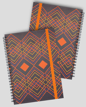 A5 Color Geometry Series Hardcover Spiral Notebook Set(Ruled)