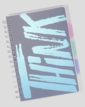 Think Different Transparent Hardcover Dot Grid A5 Spiral Journal