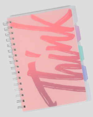 Think Free Transparent Hardcover Ruled A5 Spiral Journal