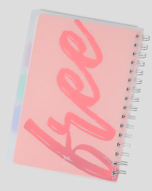 Think Free Transparent Hardcover Dot Grid A5 Spiral Journal