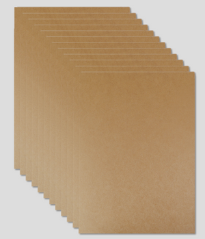 Miliko Heavy Duty Kraft Paper Document Folder/File Pocket, 12 Per Pack (Kraft Paper)