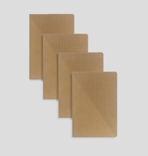 MILIKO KRAFT PAPER SERIES NOTEBOOK/JOURNAL SET (SQUARE GRID)