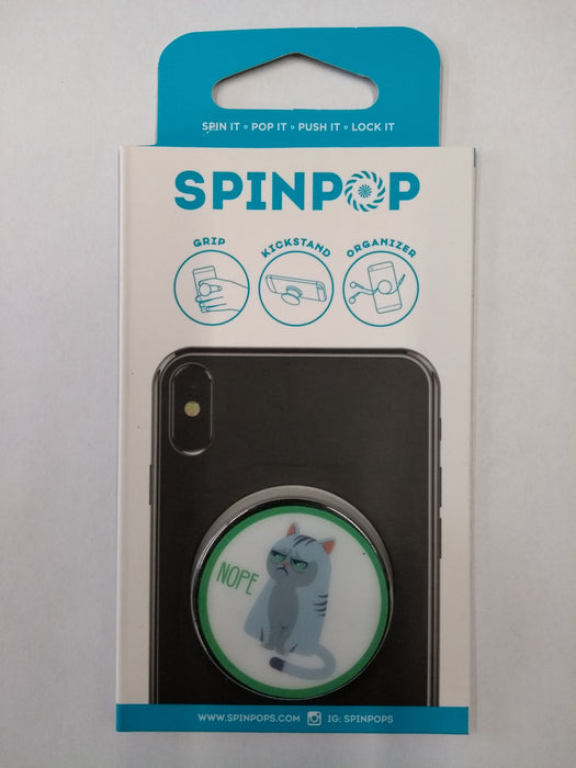 Spinpop Phone Stand, Grip and Organizer