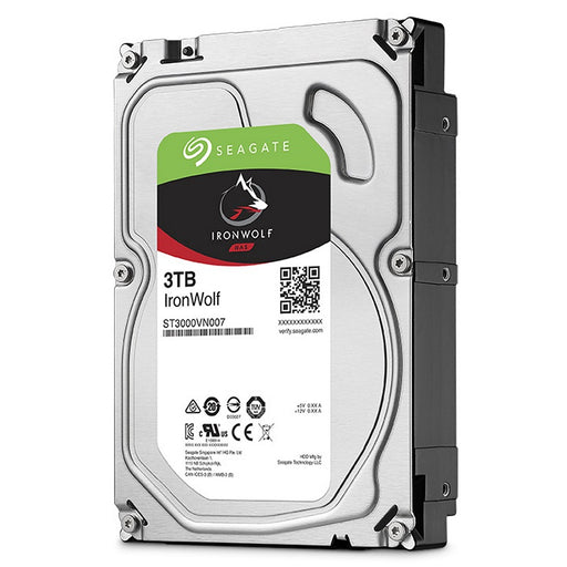 "Seagate IronWolf 3TB NAS Hard Drive 3.5"" SATA 6.0Gb/s, 5900Rpm, 64MB Cache -- 3 Year Seagate Warranty"