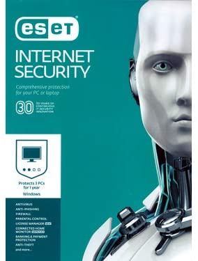 ESET INTERNET SECURITY Version 10 - 1 USER - 1 Year License - OEM