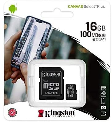 Kingston 16GB microSDHC Class 10 Flash Card with SD adaptor
