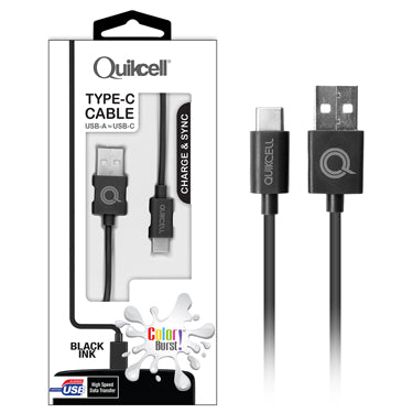 Colour Burst Charge & Sync Micro USB-C Cable