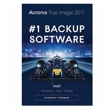 ACRONIS TRUE IMAGE 2017 Backup & Recovery Software - 1 User BIL