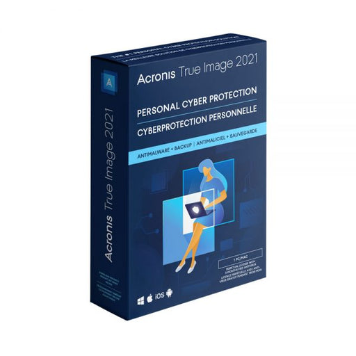 ACRONIS TRUE IMAGE 2021 Backup & AntiMalware Software - 1 User BIL PC/MAC