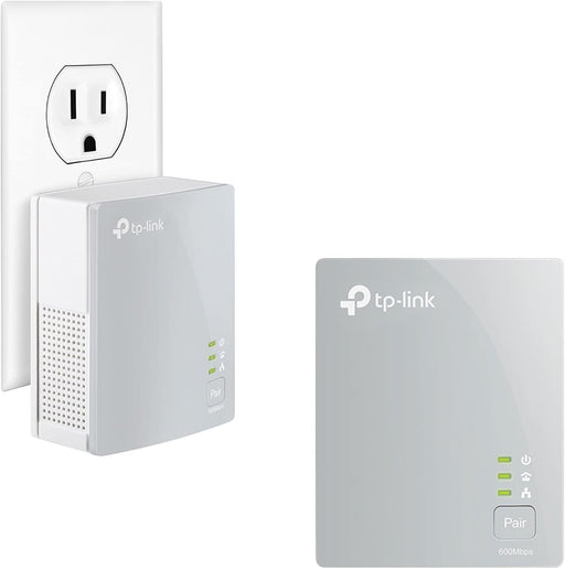 TP-LINK TL-PA4010KIT AV600 Nano Powerline Ethernet Adapter Starter Kit, Ultra Compact Size, 500Mbps Powerline Datarate, 100Mbps Fast Ethernet, HomePlug AV, Green Powerline, Plug and Play, Twin Pack -- 30 Day TTE.CA  Warranty  -- TP-LINK Warranty