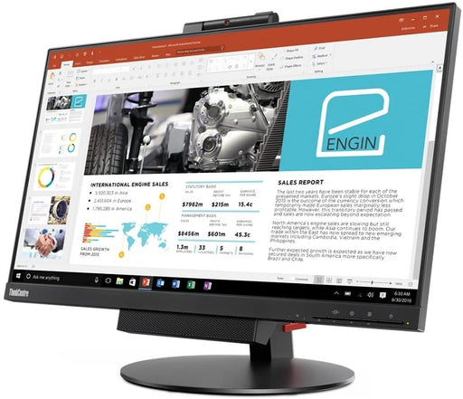 "ThinkCentre TIO 24  23.8"" In-Plane Switching (IPS), 1920x1080, 250Nits, Anti-Glare, 1080p Cam, Dual Mic Array, Speakers, 1x USB upstream, 1xDisplay Port, TINY PC Slot--1 Year TTE.CA  Warranty"