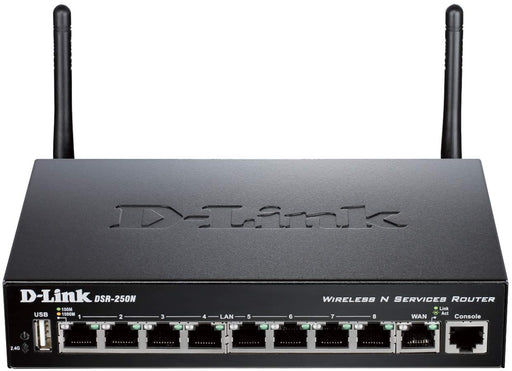 D-LINK DSR-250N WIRELESS N, SSL VPN ROUTER, GIGABIT PORTS, 8 LAN, 1 WAN -- LIMITED D-LINK LIFETIME WARRANTY