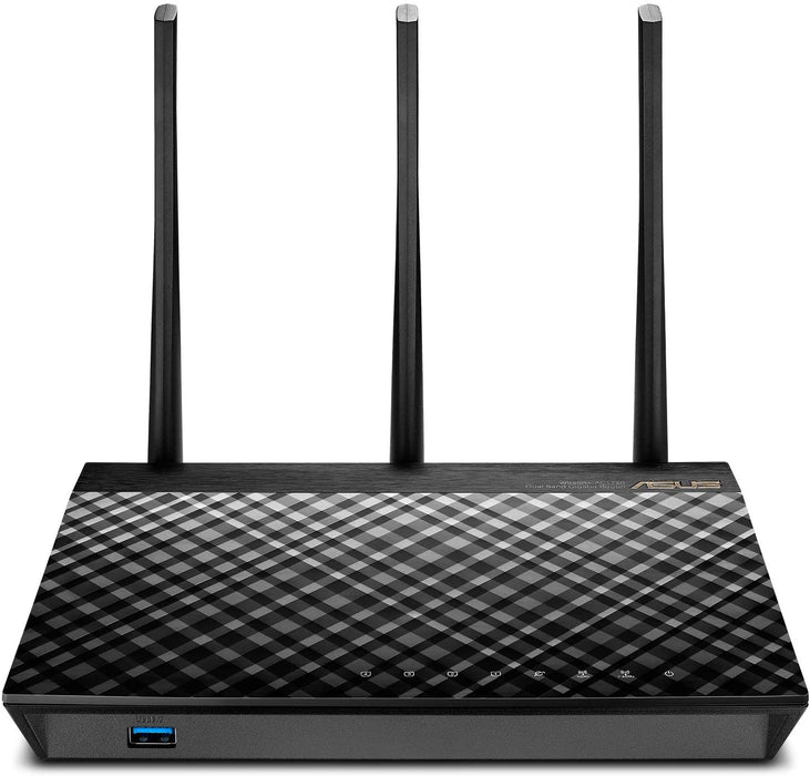 ASUS RT-AC66U B1 Wireless DualBand AC1750 Router, 802.11AC, 2xUSB (1xUSB 3.0,1xUSB2.0)+4GB LAN, 2.4GHz/5GHz(AC), Data Rate up to 1750Mb, 3 external Antenna, 2 Year ASUS  Warranty