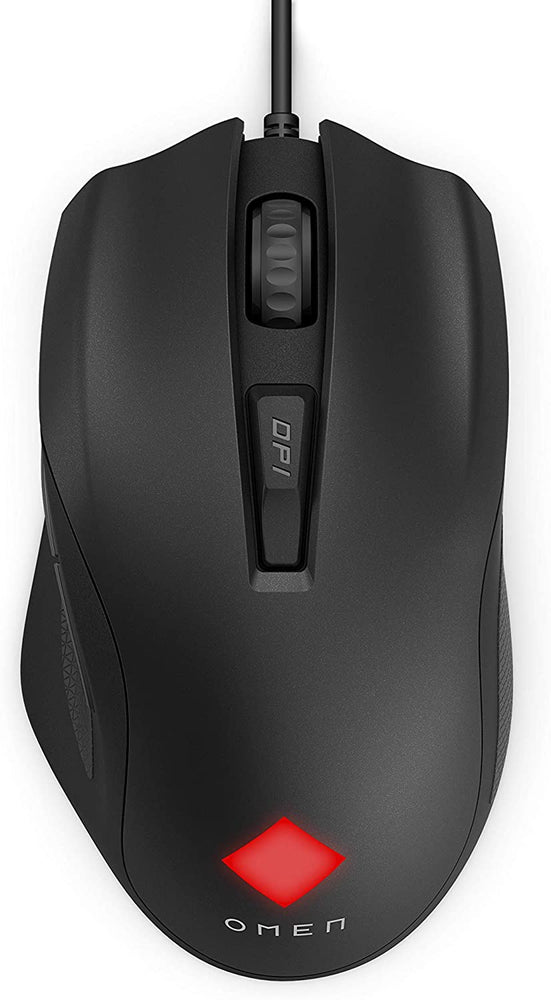 HP OMEN Vector Essential Mouse, OMEN Radar 1 Sensor, co-developed with PixArt, Wired USB, 220 IPS, upto 7200dpi, 88grams, OMEN Command Center options ranging from 16.8m colours, 6 programmable buttons --  HP 1 Year Limited Warranty