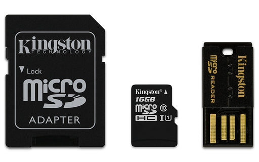Kingston Digital Multi-Kit/Mobility Kit 16/32/64 GB Flash Memory Card with Reader MBLY10G2