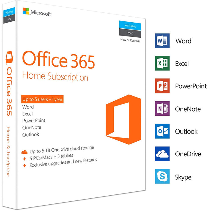 Microsoft Office 365 - 1 Year Subscription