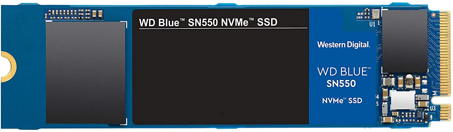 500GB WD Blue SN550 NVMe SSD Gen 3 PCIe M.2 2280 --  5 Years WD Warranty