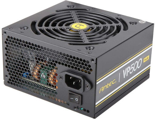 Antec VP 500Watt Power Supply, 120mm Silent Fan, Thermal Manager, CuruitShield, 80 Plus Black, 2x8 (6+2) pin -- 3 Year Antec Warranty