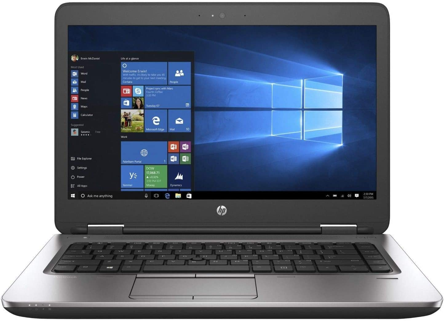 "HP EliteBook 640 G2 NoteBook, Intel Core-i5 6300U 2.4 to 3.0Ghz, 16Gb DDR4/3  Ram, 256Gb SSD, No Optical, GbNic, WiFi AC, 14"" Wide Screen,  WebCam Windows 10 Pro 64Bit-- 1 Year TTE.CA Hardware Warranty -- 30 Day Battery Warranty"