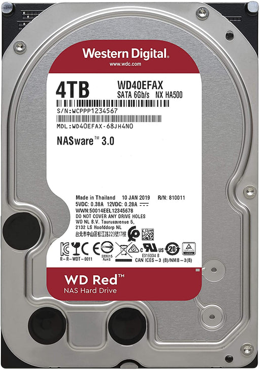"WD Red NAS 4TB 3.5"" Hard Disk Drive, 5400rpm SATA 6 Gb/s -- 3 Year WD Warranty"