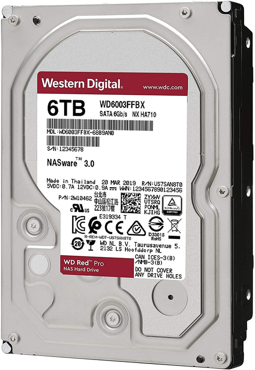WD RED Pro 6TB NAS/Desktop Hard Disk Drive - 7200 RPM SATA 6Gb/s 256MB Cache 3.5 Inch --  5 Year WD Limited  Warranty