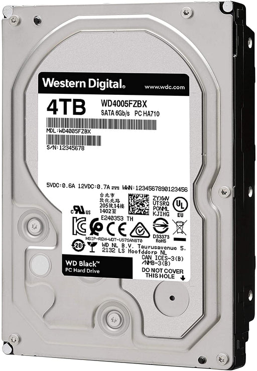 WD Black 4TB Performance Desktop Hard Disk Drive - 7200 RPM SATA 6Gb/s 128MB Cache 3.5""