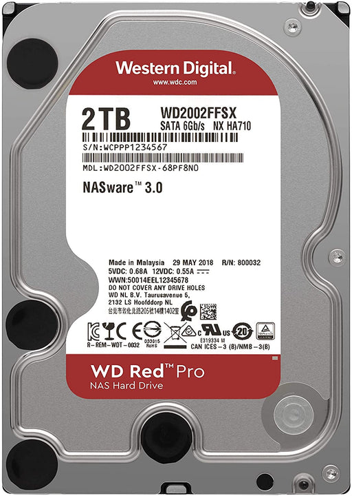 WD Red Pro NAS Desktop Hard Disk DRive -- 7200rpm, 64Mb Cache -- 5 Year WD Warranty