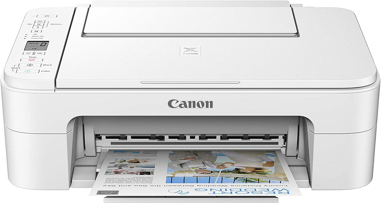 PIXMA TS3320 - Multifunction - Ink-jet - Print, Copy, Scan - Up to 4800 x 1200 dpi - IEEE 802.11b/g/n; USB; Wi-Fi - White Power Cord -- Canon Warranty