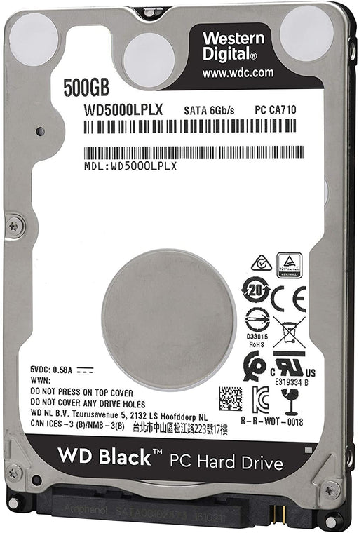 "WD Black 2.5"" 500GB, 7200RPM, SATA 6Gb/s, 7.0mm, 32MB Cache --  5 Years WD Warranty"