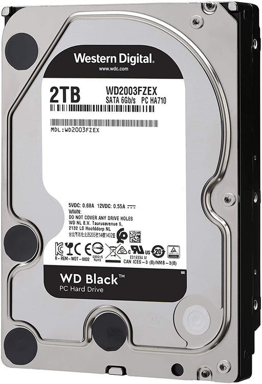 WD Black 2TB Performance Desktop Hard Disk Drive - 7200 RPM SATA 6Gb/s 64MB Cache 3.5 Inch --  5 Year WD Warranty