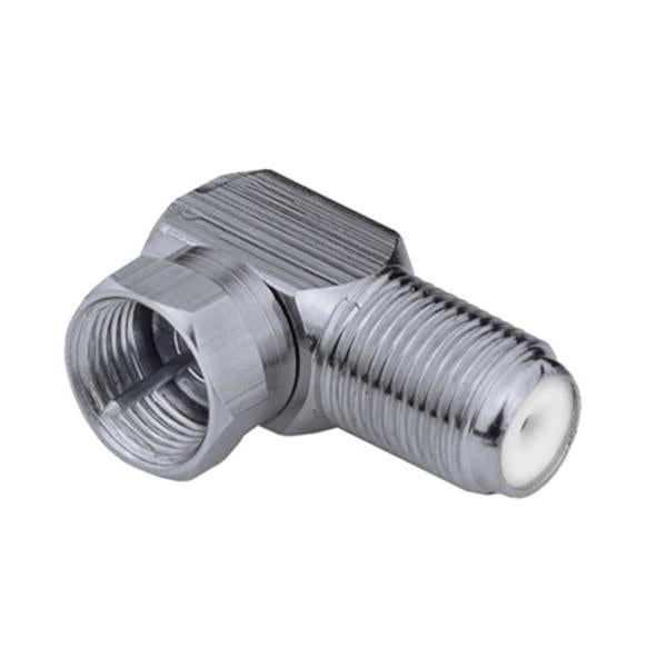 90-Degree Male to Female F-Type Coax Adapter