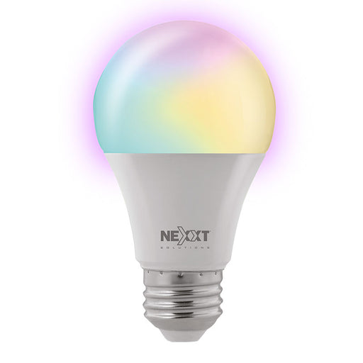 Nexxt Smart Home Indoor WiFi RGB Light Bulb 100V-220V - A19, ( Dimmable, Voice Control, Create Schedules and select  colours, 16.8 spectrum, no hub required -- 2 Year Mexxt Warranty