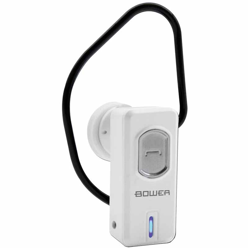 Bower Bluetooth Earpiece Mono with Mic (White Colour)