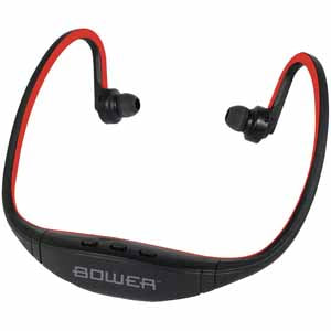 Bower Bluetooth Headset Sport Wrap with Mic (Red Colour)