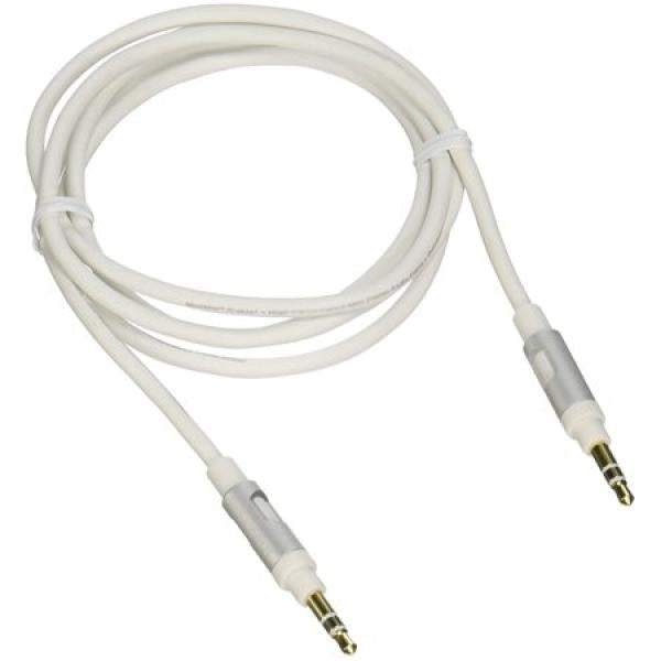 4' Premium 3.5mm Stereo Cable - White
