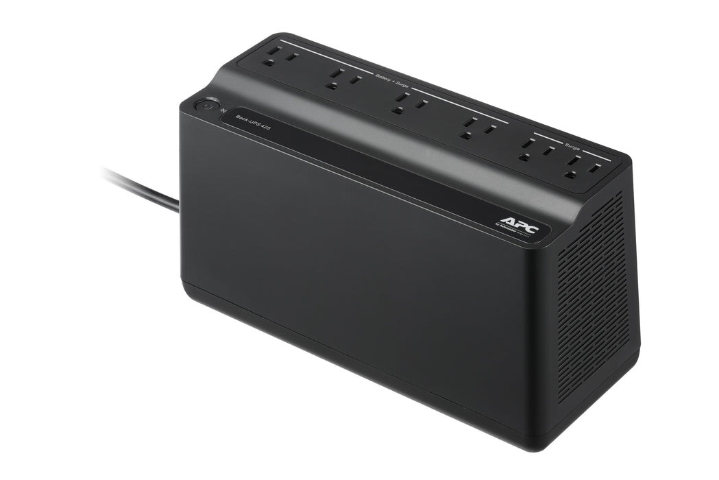 APC BE425M Back-UPS 6 OUTLET 425VA, 120V -- 3 Year APC Warranty